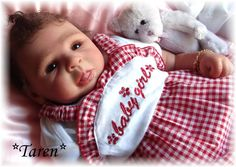 Reborn Baby girl Taren...Isabeau kit by Danielle Zweers...6 lbs & 2 oz's..19 inches..rooted hair..Created by me..2009...