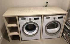 Beschrijving: Wilt u meer opbergruimte om uw wasmachine heen of wilt u het washok gezelliger maken? Dan is deze wasmachine ombouw de perfecte oplossing.