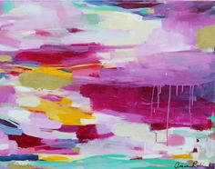 Sunset Lover - 22x28 Original Abstract Painting