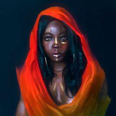 Image in artwork collection by on We Heart It Sexy Black Art, Black Girl Art, Black Women Art, Art Girl, Art Women, Afro Art, African American Art, African Art, African Beauty