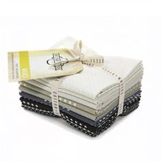 Cotton and Steel, PRE-CUT, Basics Blank Canvas in FAT QUARTERS 8 Total