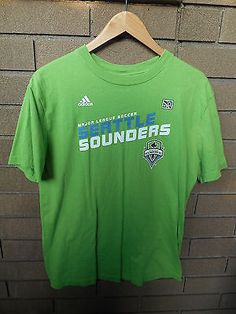 Adidas Seattle Sounders Shirt Size XLG 18/20 Boys MLS Green