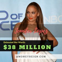 Jennifer Lopez has a net worth of around $38 million. Thanks to her success in the world of movies and music, this number should continue to rise and her music and acting is timeless.