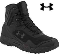 Men's Under Armour Valsetz RTS Wide Tactical Boot - Black UA Field Duty Boots