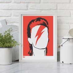 Silhouetted Pop Icons in Print by Bold & Noble designed in Great Britain #MONOQI