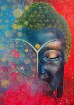 """""""Discipline divorced from wisdom is not true discipline, but merely the meaningless following of custom, which is only a disguise for stupidity."""" ~ Rabindranath Tagore Artist Helma van der Zwan; Title: """"Color the World - Buddha"""" <3 lis"""