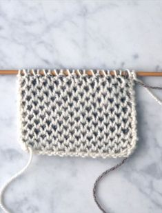 Two-Color Honeycomb Brioche - Video Knitting Tutorial