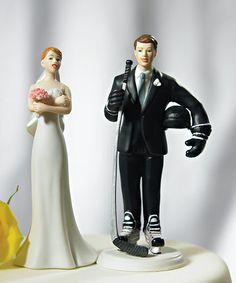 hockey wedding cake topper