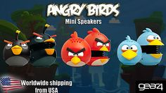 COLLECTABLE ANGRY BIRDS MINI SPEAKERS BY GEAR4 3 MODELS AVAILABLE! MIB BRAND NEW, $24.99...