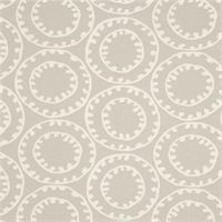 Ring a Bell Birch Grey Suzanna Medallion Drapery Fabric by P Kaufmann