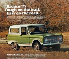 1977 Ford Bronco 4X4, Ours is a  1968 purchased FOB Detroit, only one owner!
