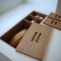 This kitchen storage is absolutely genius, perfect for the chef who always wants their ingredients at the ready!