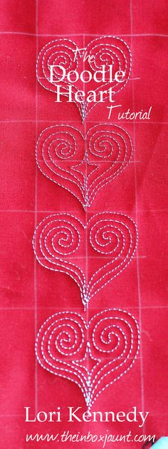 Tutorial-Free Motion Quilted Heart Lori Kennedy-The Inbox Jaunt