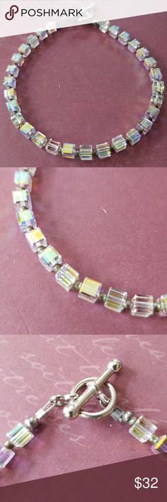 Handmade Swarovski Crystal bracelet Handmade  One of a kind  Gorgeous fire and sparkle Genuine Swarovski Crystal Toggle closure Handmade Jewelry Bracelets