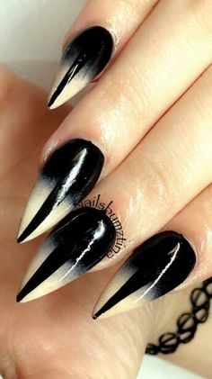 Stiletto ombre nails design