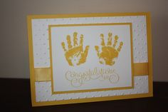 Baby card - Could do in any color!