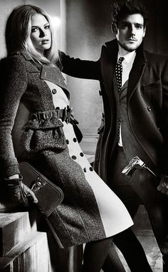 'Shelter from the Storm': The Burberry Autumn/Winter 2012 campaign featuring Gabriella Wilde and Roo Panes