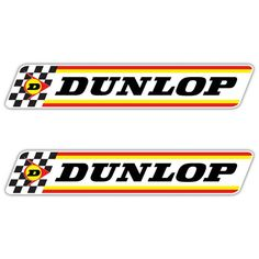 Dunlop Chequered Flag Stickers Available sizes W x H W x H W x H These Stickers are digitally printed in high Car Shed, Cars Invitation, Motorcycle Logo, Sticker Bomb, Garage Art, Checkered Flag, Chevy, Car Painting, Slot Cars