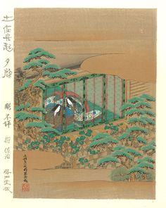 Tosa Mitsuoki - Genji monogatari Yugao (The Tale of Genji -Yugao)