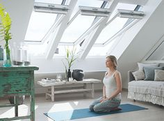 VELUX centre pivot roof windows - easy to open, easy to use