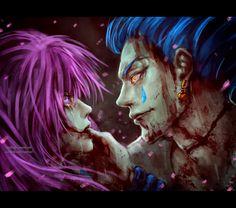"""the Joker and his warning"" by NanFe on DeviantArt ~ Machi and Hisoka Moreau | Hunter X Hunter"