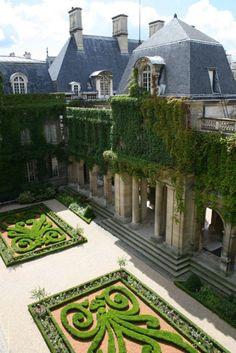 The Carnavalet Museum Gardens, Paris.