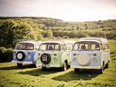 Camper vans in the country