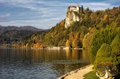 Castle Bled slovenia | Bled castle perched high above the lake.