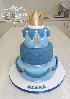 Cake With Crown For Boy : Ice Queen Cakes - boys cakes on Pinterest Ice Queen ...