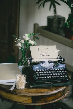 Vintage Type Writer || Vintage Wedding Guest Book || Vintage Wedding Reception Decor