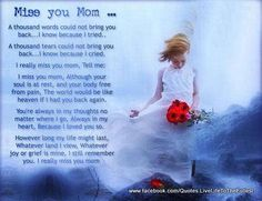 For my Mom..17 years today she went to be with God. I know she is in a better place without pain from cancer, but I think about her daily and wish she was still here with me...I miss you♥