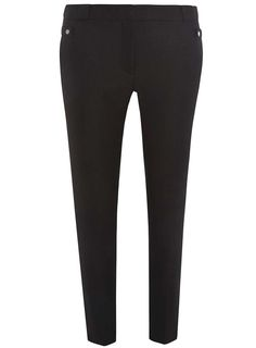 Womens Black Tab Applique Trousers- Black