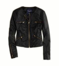 Vegan leather quilted jacket  / American Eagle(アメリカン イーグル) AEキルトビーガンレザージャケット shopstyle.co.jp