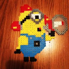 Minion Despicable Me 2 perler beads by kepmusiclife13