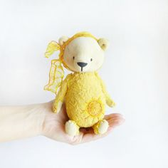 Yellow Teddy Bear the Sun - 6 inch - New Collection