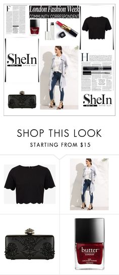 """""""shein"""" by tutori ❤ liked on Polyvore featuring Ted Baker, Alexander McQueen, Nicki Minaj, Chanel, Givenchy and Christian Dior"""