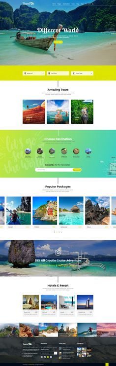 Travelon – Tour & Travel Agency PSD Template. It is easy to customize, all the layers well organized to make any change easy to do without any problems.We have included best practice of web development – you can create great website layout based on Twitter Bootstrap or Grid 1170px. #psd #travel