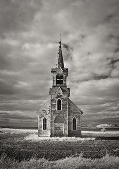 Abandoned church near Sisseton, South Dakota