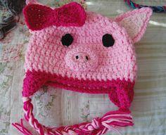 023f27aef7b tillie tulip - a handmade mishmosh  Pig hat - free pattern. Cute  CrochetCrochet ...