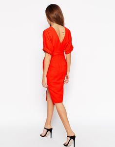 Image 2 ofASOS PETITE Wiggle Dress with Split Front