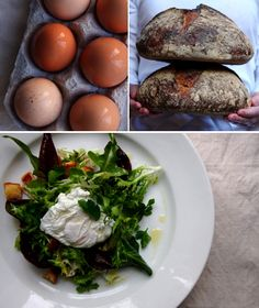 farm eggs and garden greens