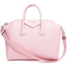 GIVENCHY Antigona Grained Leather Tote Bag ($1,670) ❤ liked on Polyvore featuring bags, handbags, tote bags, purses, accessories, givenchy, tote purses, pink tote handbags, pink handbags and handbag purse