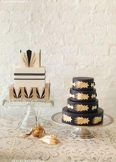Roaring 20s Wedding: Art deco inspired cakes