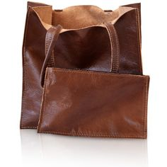 brown leather tote, soft leather bag, affordable handbag, genuine leather tote, quality leather handbag, nice handbag, small leather tote found on Polyvore featuring women's fashion, bags, handbags, tote bags, brown leather tote bag, purse tote, leather handbag tote, leather tote purse and leather hand bags
