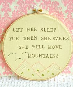 she will move mountains!!!