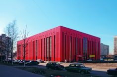The #ShtrikhKod (Bar Code) building in #StPetersburg #Russia by #VitruviusandSons studio! #Red #Architecture