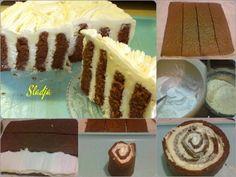 Kapućino točak torta - veoma kremasta, neobična i predivnog ukusa kapućina... #recepti #kuvar #torta