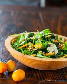 Kale Kumquat Salad - http://www.steamykitchen.com/30289-kale-kumquat-salad-recipe-video.html