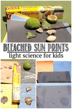 Learn about the sun and have fun outdoors at the same time in this super fun science project! Make sun prints and learn all about the power of UV rays. Science Activities For Kids, Nature Activities, Kindergarten Science, Science Experiments Kids, Science Projects, Preschool Activities, Summer Activities, Science Toddlers, Space Activities