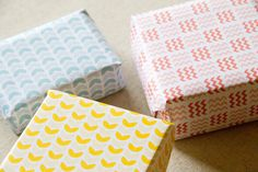 Printable Gift Wrapping Set  Chevron & Bowls by mikiodesign, $8.00